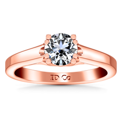 Solitaire Diamond Engagement Ring Royale Lattice 14K Rose Gold engagement rings imaginediamonds