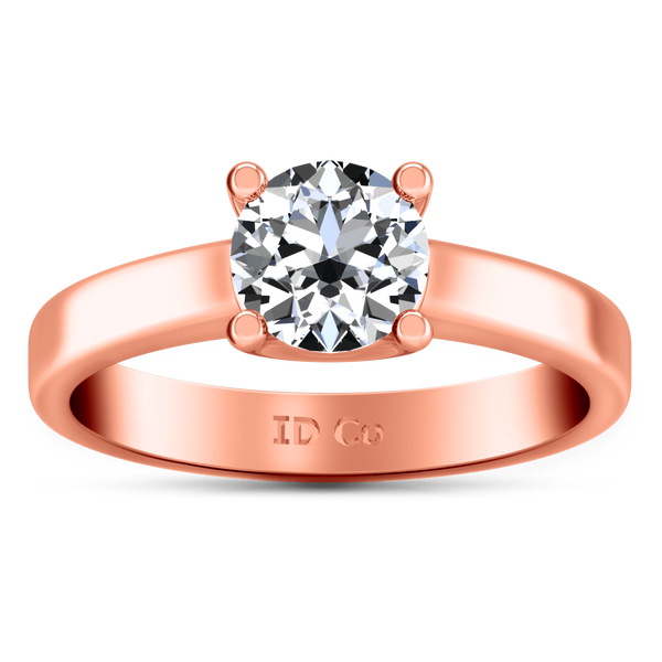Solitaire Diamond Engagement Ring Amira 14K Rose Gold