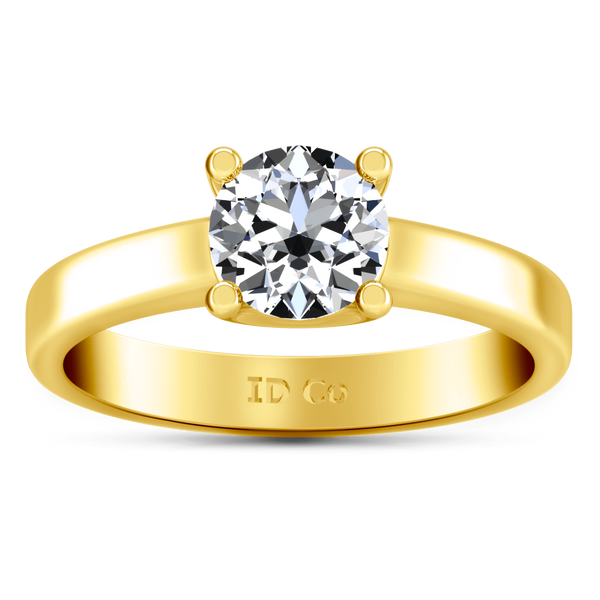 Solitaire Diamond Engagement Ring Amira 14K Yellow Gold