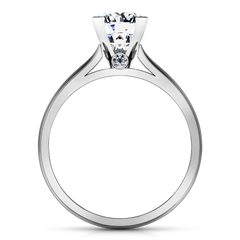 Round Diamond Solitaire Engagement Ring Luna 14K White Gold