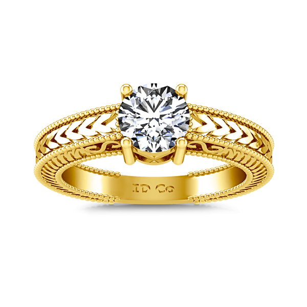 Solitaire Diamond Engagement Ring Kensington 14K Yellow Gold