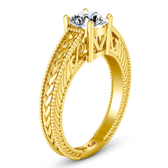 Solitaire Diamond Engagement Ring Kensington 14K Yellow Gold engagement rings imaginediamonds