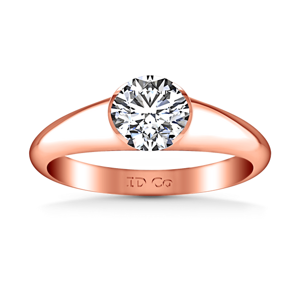 Solitaire Diamond Engagement Ring Ansley 14K Rose Gold