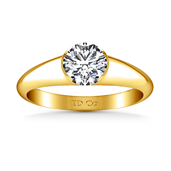 Solitaire Diamond Engagement Ring Ansley 14K Yellow Gold
