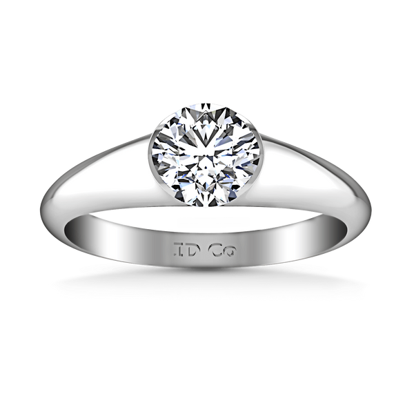 Round Diamond Solitaire Engagement Ring Ansley 14K White Gold