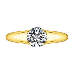 Solitaire Diamond Engagement Ring Ansley 14K Yellow Gold engagement rings imaginediamonds