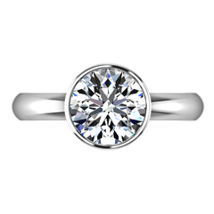 Round Diamond Solitaire Engagement Ring Contempo 14K White Gold engagement rings imaginediamonds