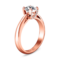 Solitaire Diamond Engagement Ring Caressa 14K Rose Gold engagement rings imaginediamonds