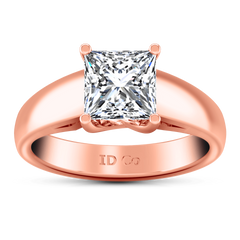 Solitaire Diamond Princess Cut Engagement Ring Leyla 14K Rose Gold engagement rings imaginediamonds