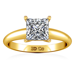 Solitaire Diamond Princess Cut Engagement Ring Cindy 14K Yellow Gold engagement rings imaginediamonds