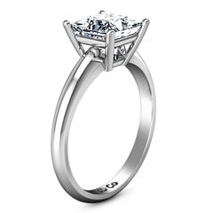 Solitaire Princess Cut Diamond Engagement Ring Cindy 14K White Gold