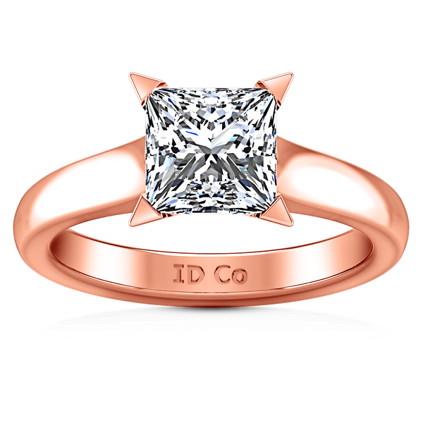 Solitaire Diamond Engagement Ring Jenny 14K Rose Gold