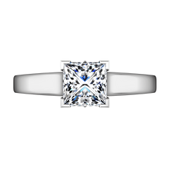 Solitaire Princess Cut Diamond Engagement Ring Holly 14K White Gold engagement rings imaginediamonds