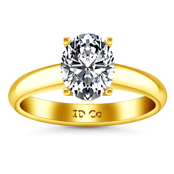 Solitaire Diamond Engagement Ring Daniela 14K Yellow Gold