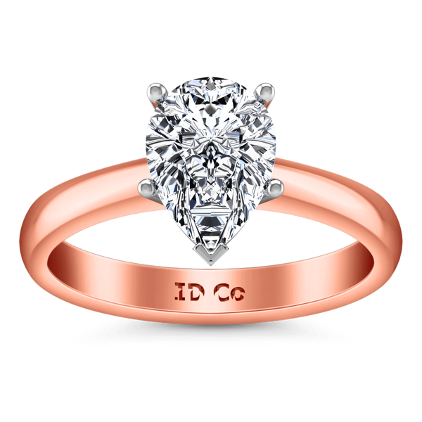 Solitaire Diamond Engagement Ring Hillary 14K Rose Gold