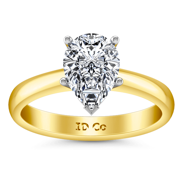 Solitaire Diamond Engagement Ring Hillary 14K Yellow Gold