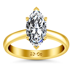 Solitaire Diamond Engagement Ring Scarlet 14K Yellow Gold engagement rings imaginediamonds