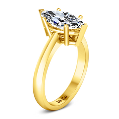 Solitaire Diamond Engagement Ring Scarlet 14K Yellow Gold