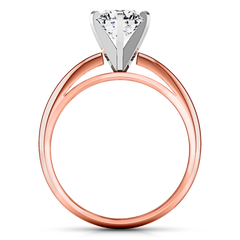 Solitaire Diamond Engagement Ring Cathedral 6 Prong 14K Rose Gold engagement rings imaginediamonds