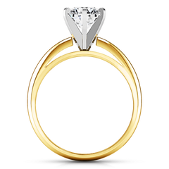 Solitaire Diamond Engagement Ring Cathedral 6 Prong 14K Yellow Gold engagement rings imaginediamonds