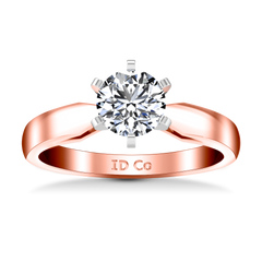 Solitaire Diamond Engagement Ring Wide Tappered 14K Rose Gold engagement rings imaginediamonds