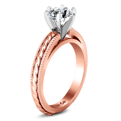 Solitaire Diamond Engagement Ring Janet 14K Rose Gold
