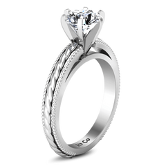 Round Diamond Solitaire Engagement Ring Janet 14K White Gold engagement rings imaginediamonds