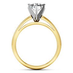 Solitaire Diamond Engagement Ring 6 Prong Contemporary 14K Yellow Gold engagement rings imaginediamonds