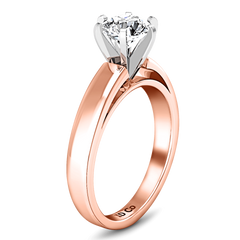 Solitaire Diamond Engagement Ring 6 Prong Contemporary 14K Rose Gold engagement rings imaginediamonds