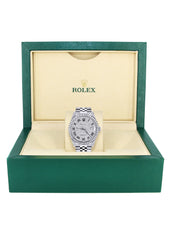 Diamond Mens Rolex Datejust Watch 16200  | 36MM | Full Diamond Roman Dial | Jubilee Band