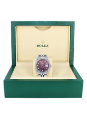 Mens Rolex Datejust Watch 16200 | 36Mm | Purple Dial | Jubilee Band