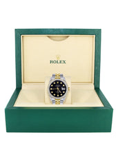 Gold Rolex Datejust Watch 16233 for Men | 36Mm | Black Dial | Jubilee Band