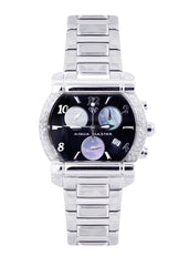 Mens White Gold Tone Diamond Watch | Appx. 0.65 Carats MENS GOLD WATCH FROST NYC