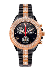 Womens Rose Gold Tone Diamond Watch | Appx 3.02 Carats WOMENS WATCH FROST NYC