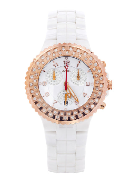 Womens Rose Gold Tone Diamond Watch | Appx 1.1 Carats