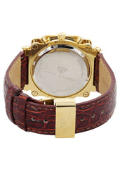 Mens Yellow Gold Tone Diamond Watch | Appx. 1.25 Carats MENS GOLD WATCH FROST NYC