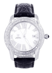 Mens White Gold Tone Diamond Watch | Appx. 1.71 Carats