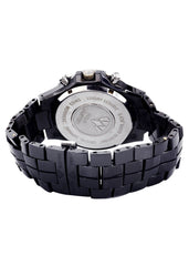Mens Black Steel Tone Diamond Watch | Appx. 2.85 Carats
