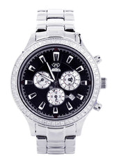Mens White Gold Tone Diamond Watch | Appx. 2.45 Carats MENS GOLD WATCH FROST NYC