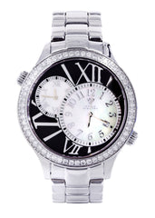 Mens White Gold Tone Diamond Watch | Appx. 2.47 Carats MENS GOLD WATCH FROST NYC