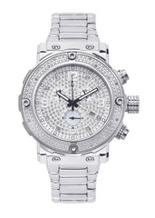Mens White Gold Tone Diamond Watch | Appx. 0.22 Carats MENS GOLD WATCH FROST NYC