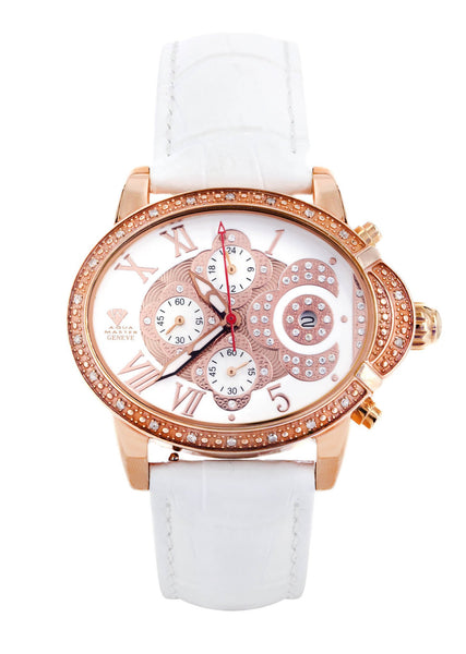 Womens Rose Gold Tone Diamond Watch | Appx 0.59 Carats