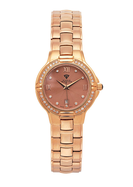 Womens Rose Gold Tone Diamond Watch | Appx 0.62 Carats