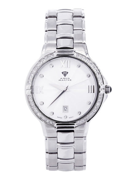 Mens White Gold Tone Diamond Watch | Appx. 1.03Carat