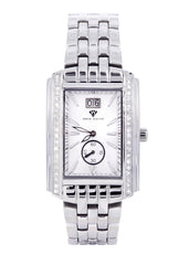 Mens White Gold Tone Diamond Watch | Appx. 1.51 Carats MENS GOLD WATCH FROST NYC