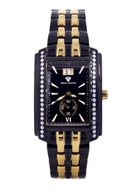 Mens Black Steel Tone Diamond Watch | Appx. 1.52 Carats