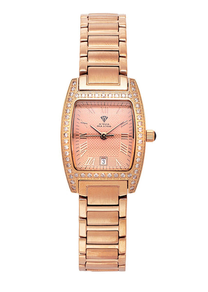 Womens Rose Gold Tone Diamond Watch | Appx 1.11 Carats