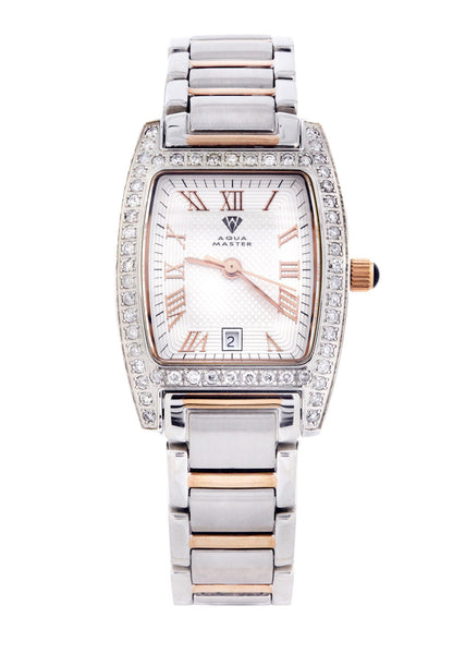 Womens Rose Gold Tone Diamond Watch | Appx 1.12 Carats