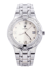 Mens White Gold Tone Diamond Watch | Appx. 1.05 Carats