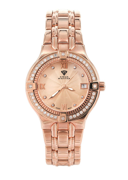 Womens Rose Gold Tone Diamond Watch | Appx 0.65 Carats